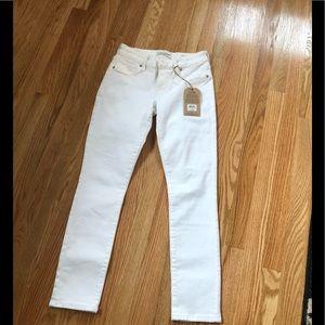 Lucky Brand white denim ankle jeans